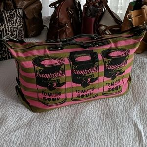 Handbags - Andy Warhol Campbell's soup duffle bag
